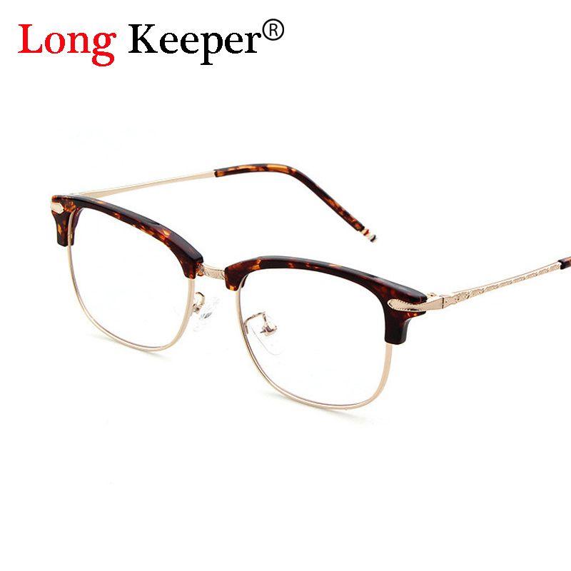 long keeper 2017 most popular half rim women men glasses frame optical glasses frame unisex fashion - Most Popular Eyeglass Frames
