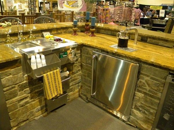 outdoor kitchen display sink and kegerator kitchen display kegerator outdoor kitchen on outdoor kitchen kegerator id=31998