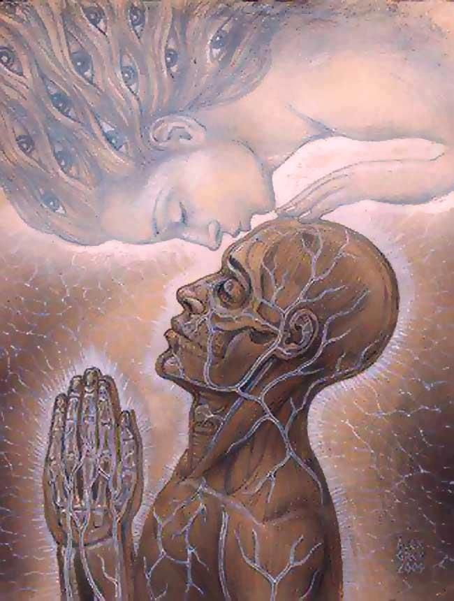 Alex Grey ~ kissed by the soul