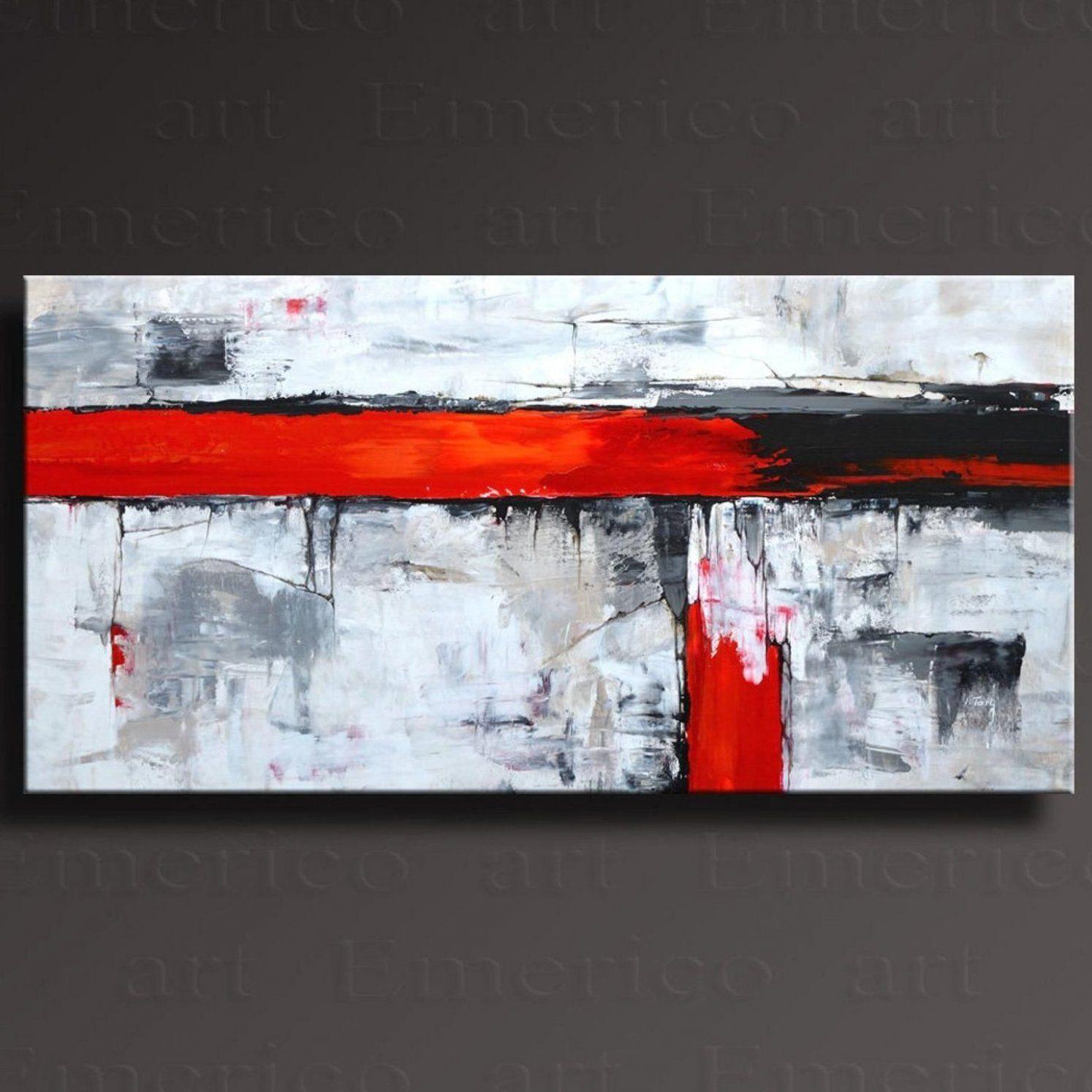 48 original abstrakte malerei schwarz wei grau rot etsy wohnkulturwohnzimmer wohnkulturwohnzimmerdiy moderne kunst abstrakt spachteltechnik berühmte bilder