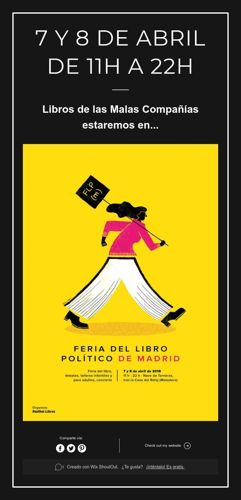 7 Y 8 De Abril De 11h A 22h Libros Políticos Libros Eventos