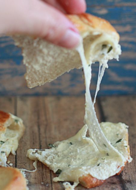 White Pizza Grilled Cheese - YUM!!
