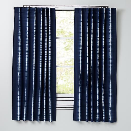 Captivating Tie Dye Curtain Panels (Blue) | The Land Of Nod