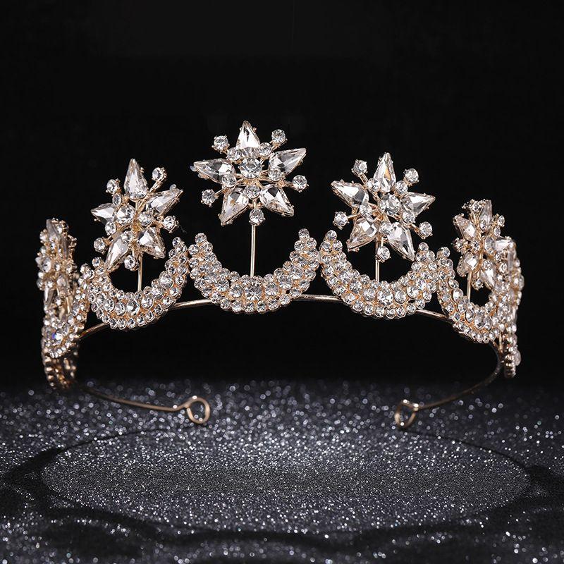 precio de fábrica elegir original diseño superior Cheap Diadema de cristal de la Tiara de la corona de oro de ...