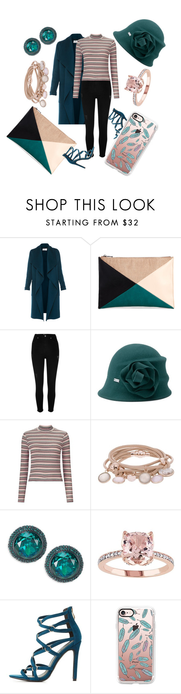 """""""Teal in Style"""" by niahedstrom ❤ liked on Polyvore featuring L.K.Bennett, Sole Society, River Island, Betmar, Miss Selfridge, Marjana von Berlepsch, Kate Spade, Charlotte Russe and Casetify"""