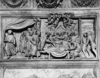 Bas-relief, Shrine of the Holy House, 16th century, Donato Bramante, Santuario della Santa Casa, Loreto, Marches, Italy