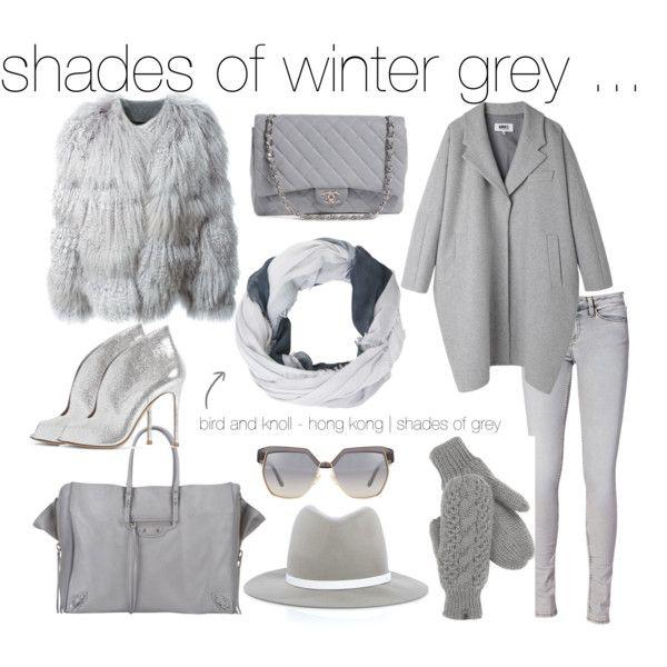 Bird and Knoll - shades of winter grey by birdandknoll on Polyvore featuring Chloé, MM6 Maison Margiela, IRO, Gianvito Rossi, Chanel, Balenciaga, rag & bone and The North Face