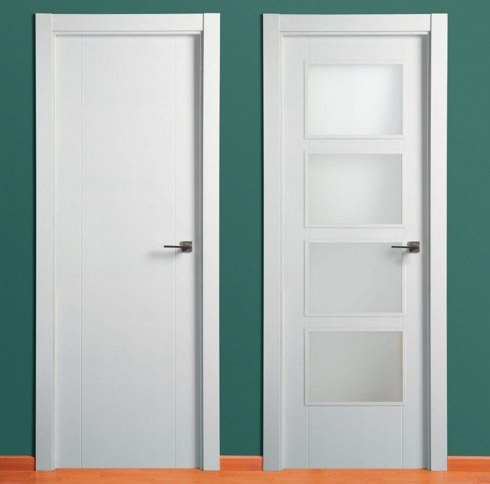 Puerta Lacada 2 Ranuras Verticales - Puertas Carsal | puertas de ...