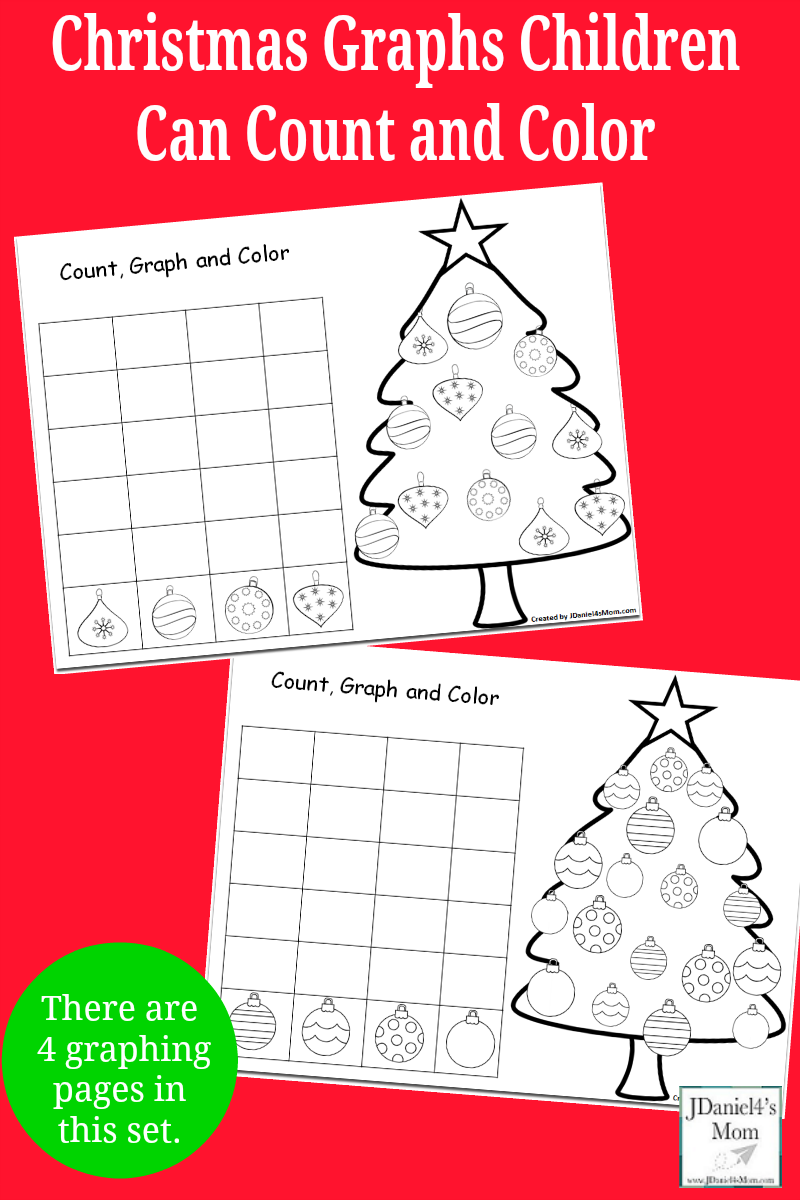 Christmas Graphs Children Can Count And Color Christmas Lesson Christmas Kindergarten Christmas Teaching [ 1200 x 800 Pixel ]