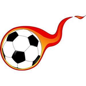Flaming Soccer Ball Soccer Ball Football Ball Soccer