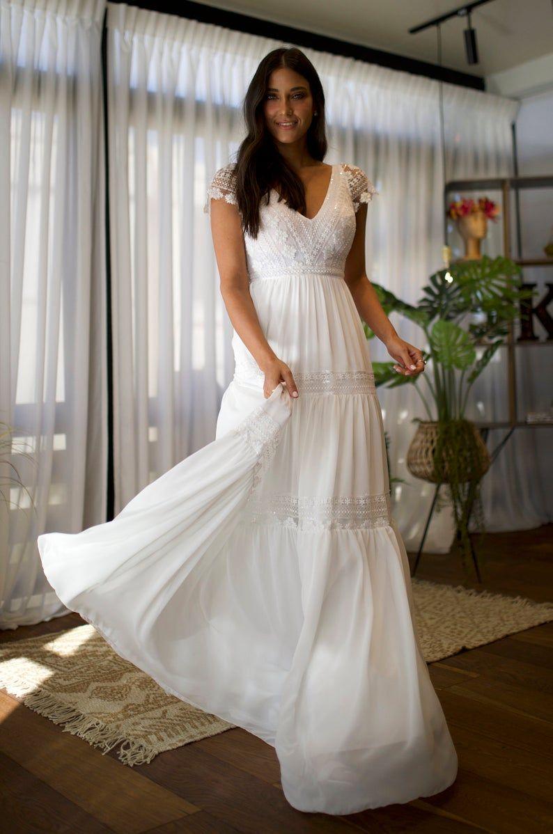 42+ Short sleeve wedding dress boho information
