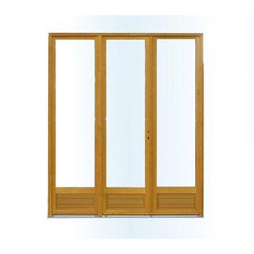 Fenêtre en bois ISOLSTAR, 3 vantaux tirant droit, haut115xlarg - peinture porte et fenetre