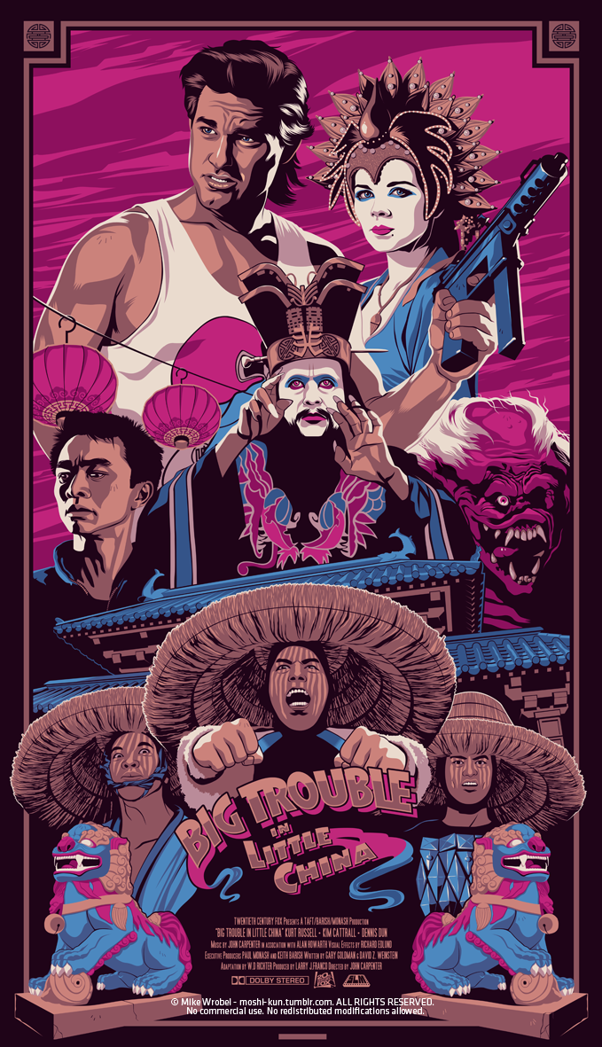 Big Trouble In Little China Movie Posters Design Movie Poster Art Movie Posters Vintage