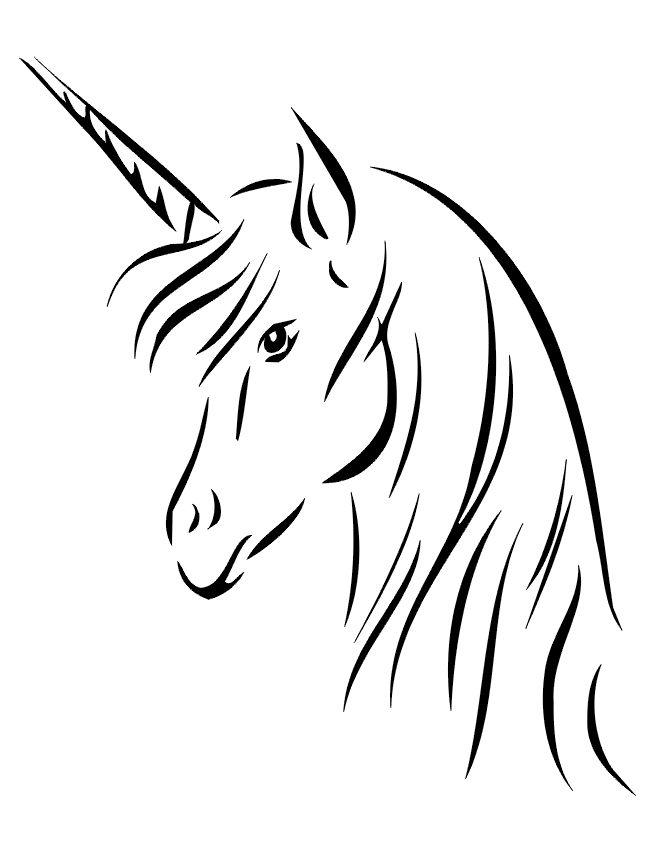 Unicorn profile silhouette animaux dessin licorne dessin et licorne - Profil dessin ...