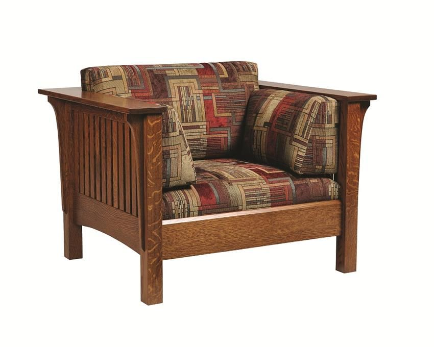 Exceptionnel Choose From A Wide Variety Of Fabric And Leather Optiosn For This Amish Mission  Lounge Chair