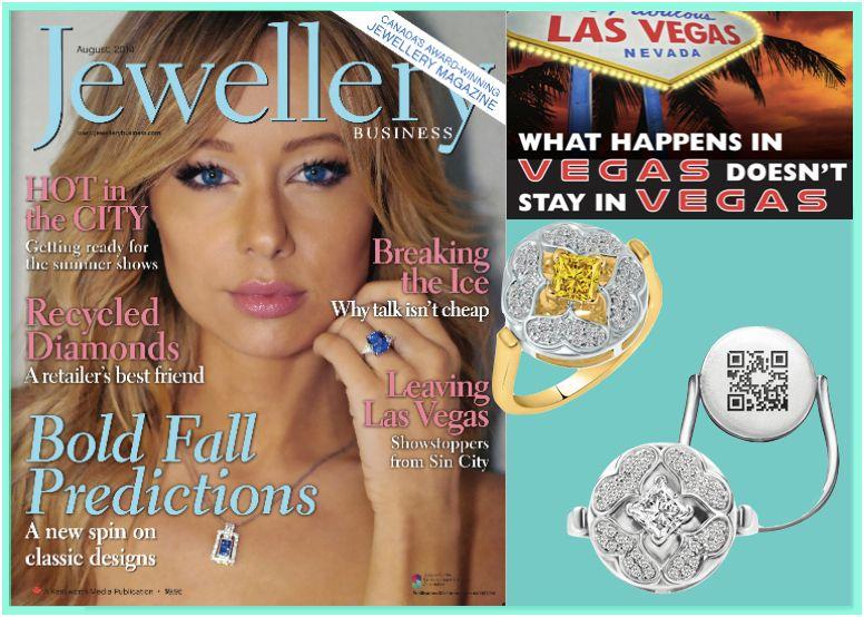 "Nurture By Reena featured in Canada's top jewelry magazine ""Jewellery Business - August 2014"". Editor Jacquie De Almeida talks to designer Reena Ahluwalia at JCK Las Vegas 2014. #NurtureByReena"
