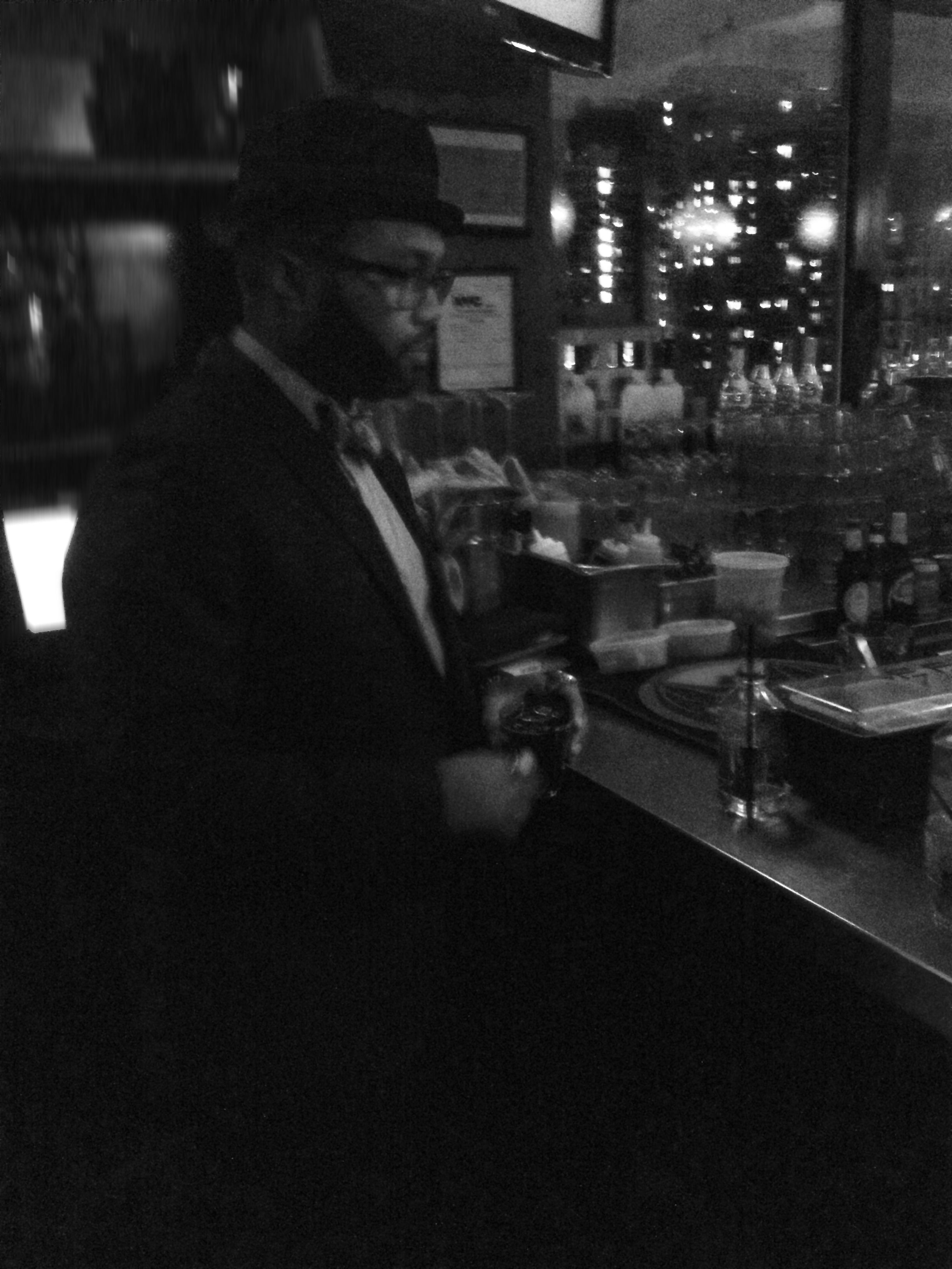 Tival Williams Of Soho Social Club Ordering Beverages Before Viewing House Of Roderick Fashion Week 2013 Bts Empire Hotel Social Club Empire Hotel Scenes