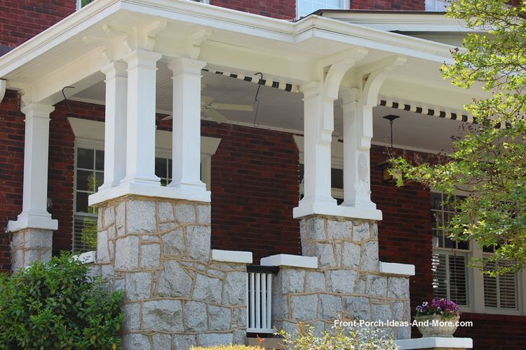 Porch Columns Design Options For Curb Appeal And More In 2020 Porch Columns Front Porch Columns House With Porch