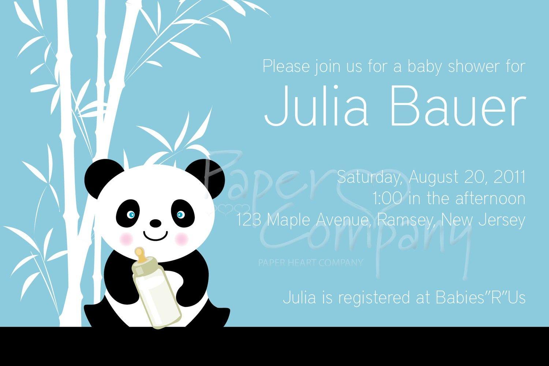 BAMBOO PANDA Baby Shower Invitation - You Print. $15,00, via Etsy ...