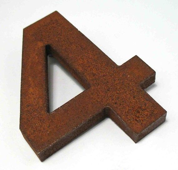 Rusted Metal House Numbers 50 Each Pricey But Cool 4