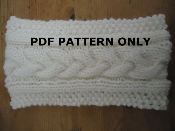 Pdf Pattern Easy Knit Headband Pdf Pattern Cableknit Headband