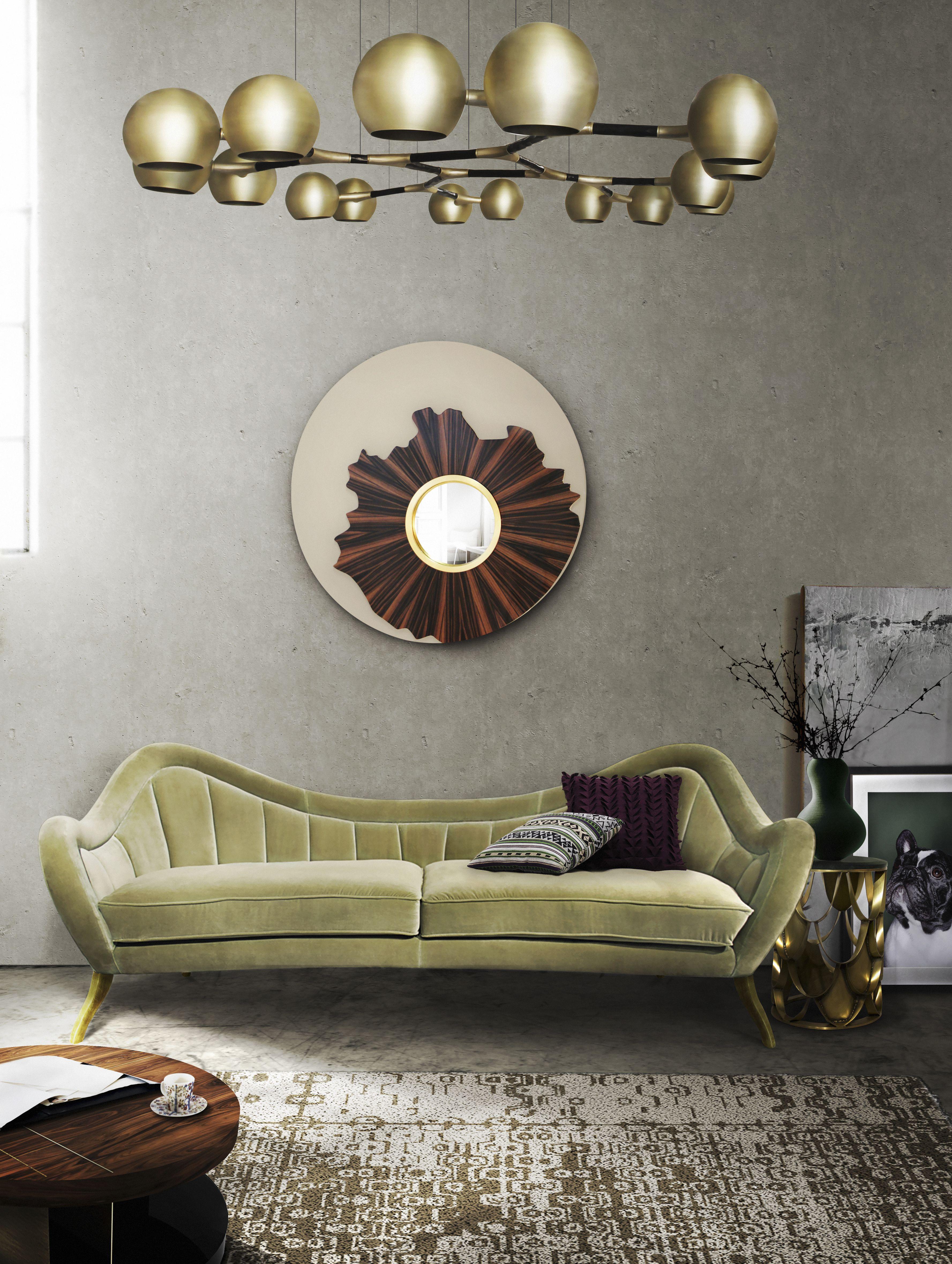 Samt Sofa | Wohndesign | Wohnzimmer Ideen | BRABBU | Einrichtungsideen |  Luxus Möbel | Wohnideen