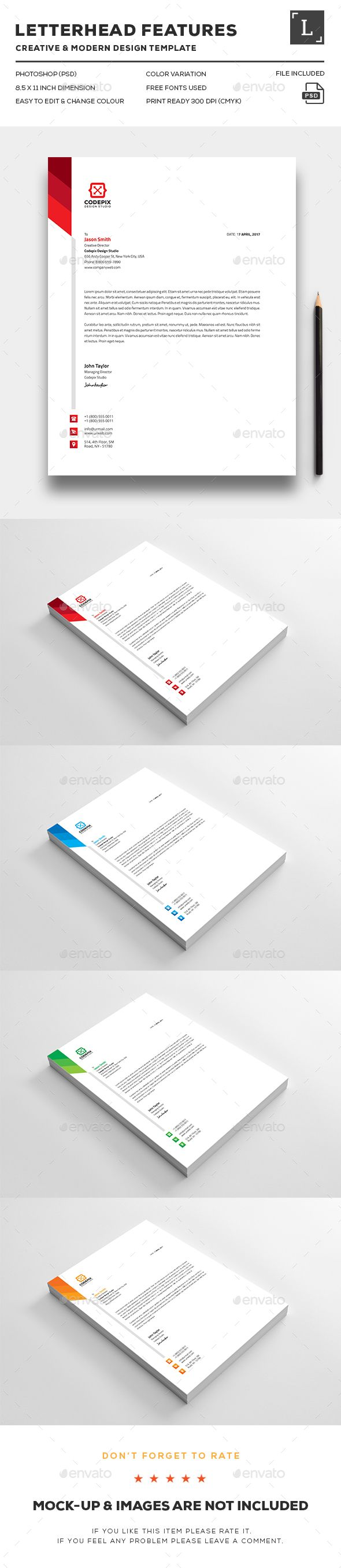 Corporate Letterhead | Letterhead design, Stationery printing and ...