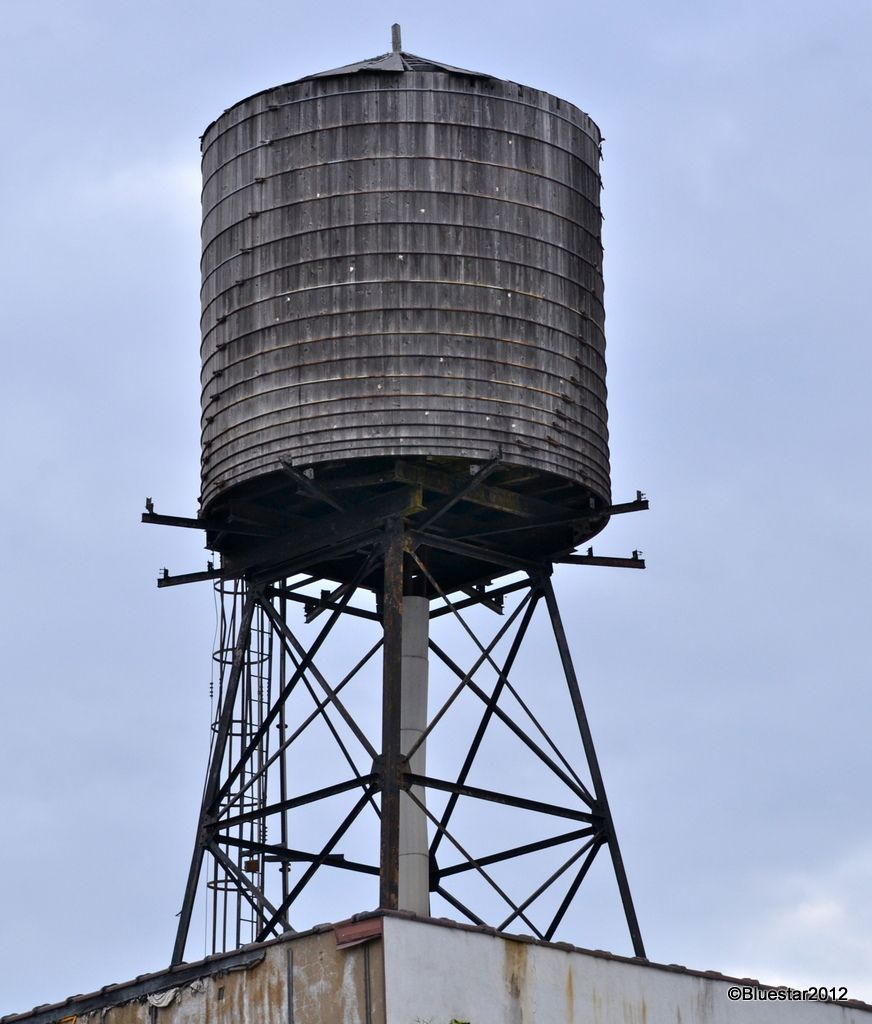 Water Tower Tank : Old wooden water tank vintage ducts
