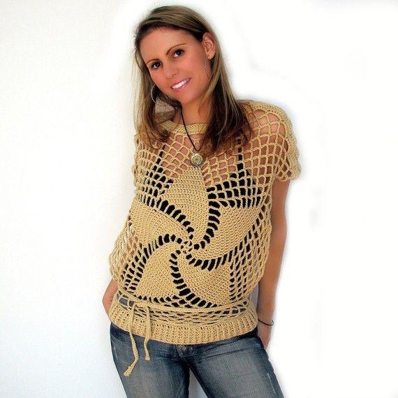 Pinwheel Summer Top Crochet Pattern | Crochet clothing | Pinterest ...