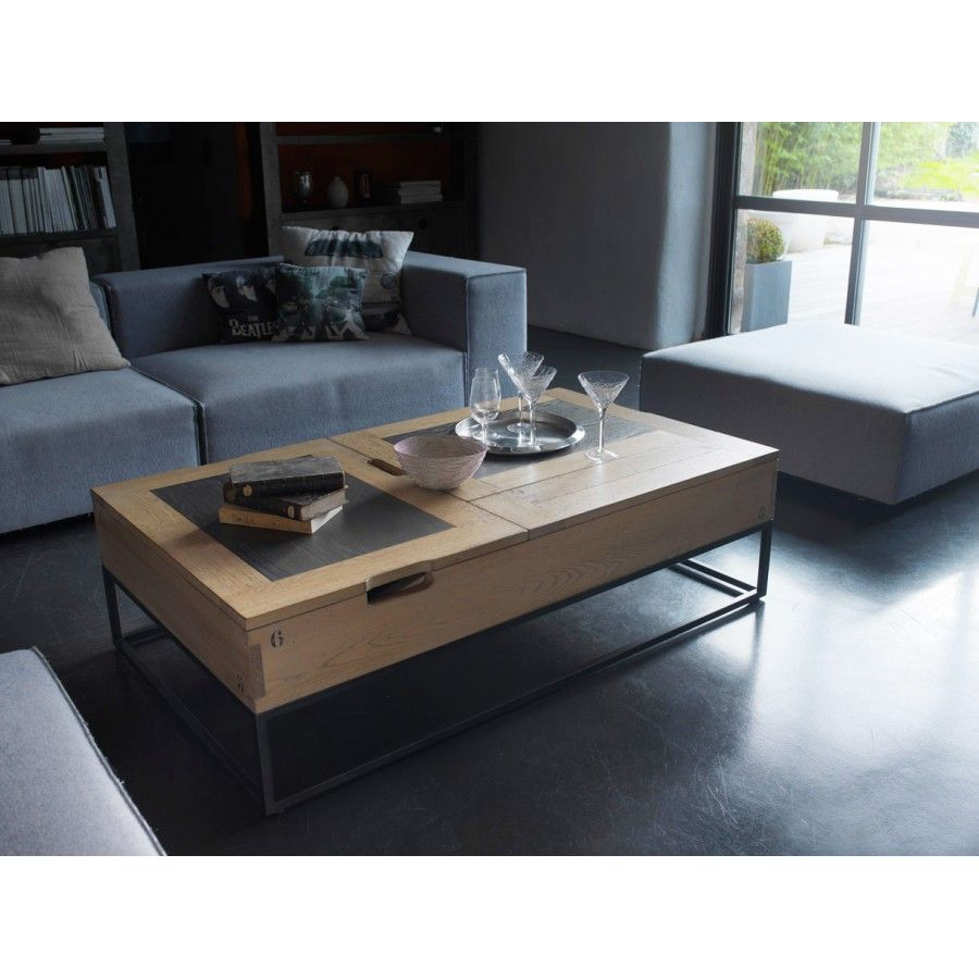 Table Basse Atelier Plateau Relevable En 2020 Table Basse Mobilier De Salon Table Basse Moderne