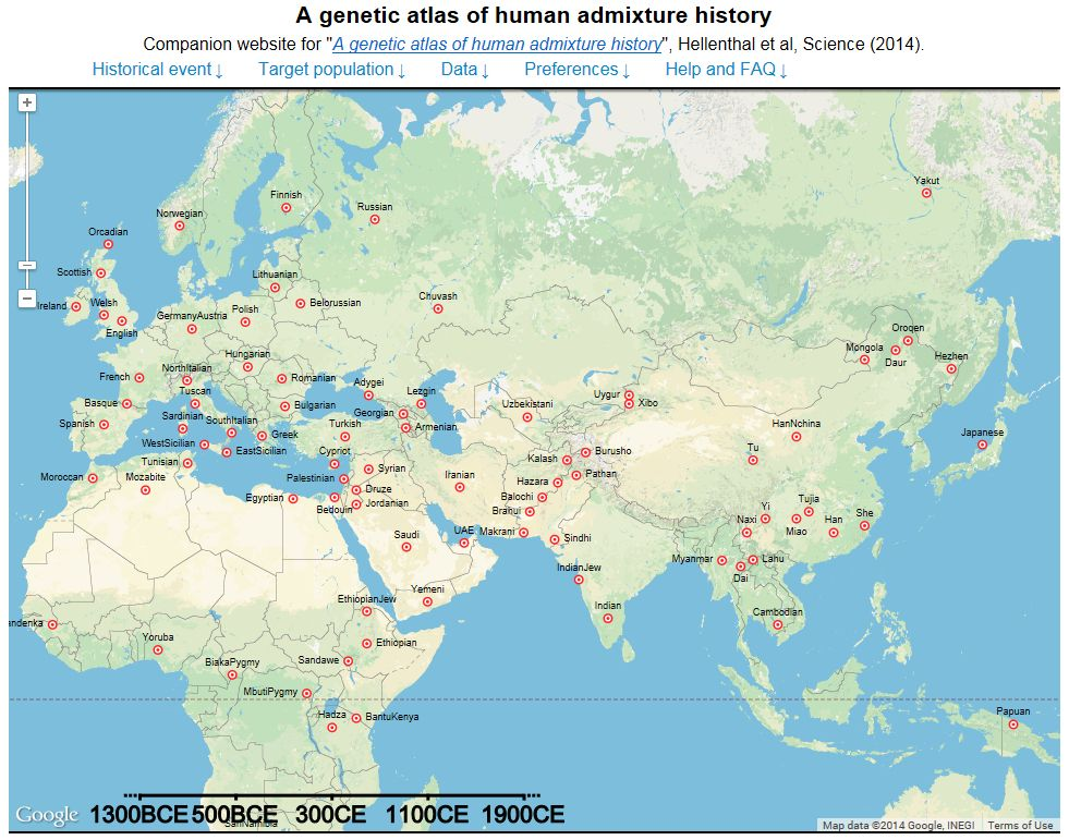 Map shows how fallen empires have left their stamp on our genes map shows the mixing of genes of 95 different populations across europe africa asia and south america gumiabroncs Images