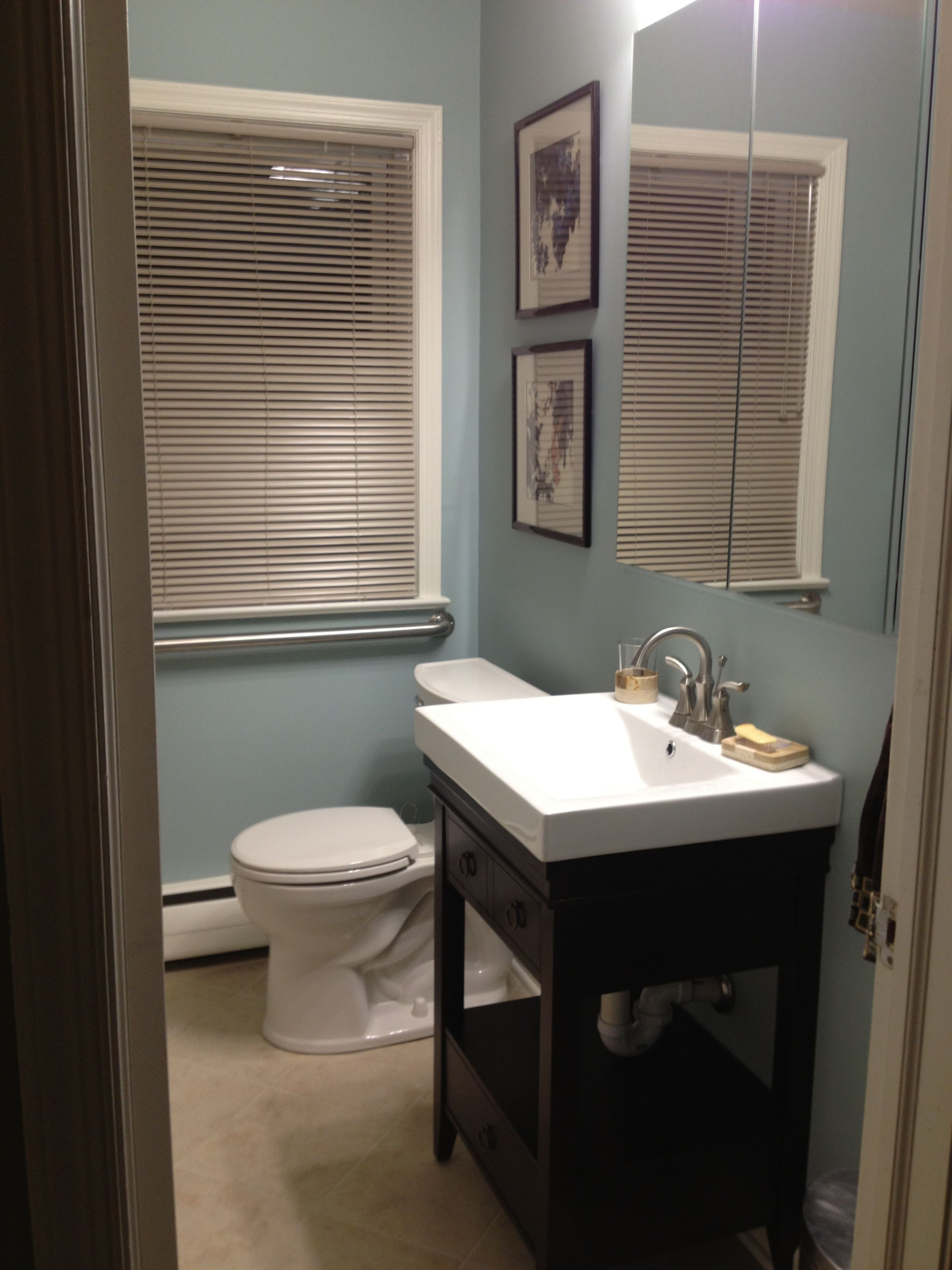 the new bathroom Benjamin Moore Wedgewood Gray House Paint ColorsWall