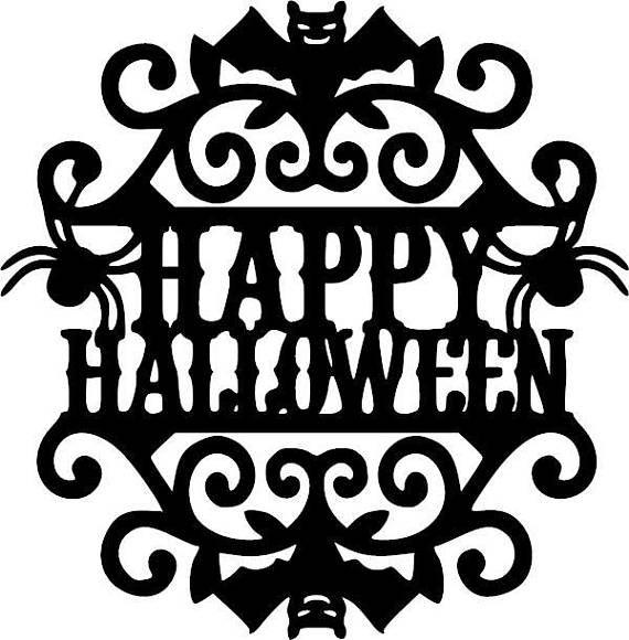 Items similar to Happy Halloween Sign Halloween Vinyl Decal on Etsy