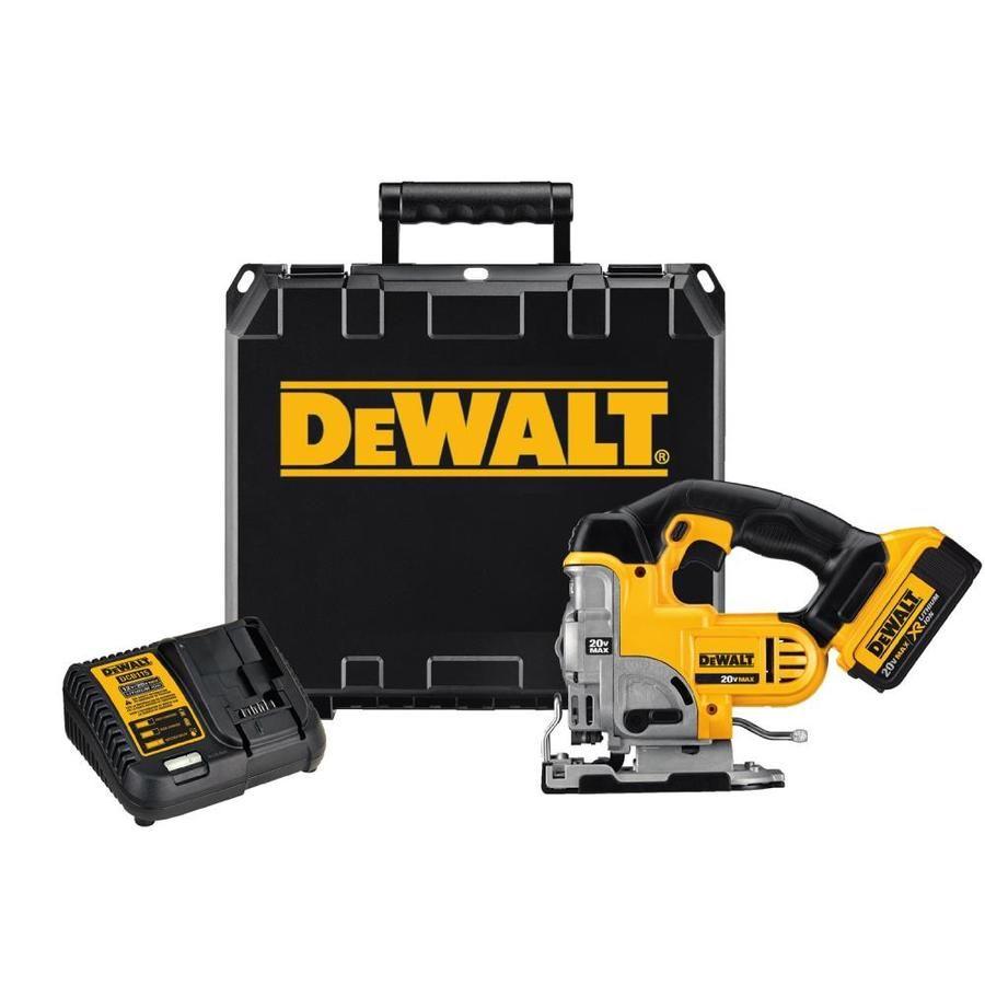 Dewalt 20 Volt Max Variable Speed Keyless Cordless Jigsaw Battery Included Dcs331m1 In 2020 Dewalt Jig Saws Jig