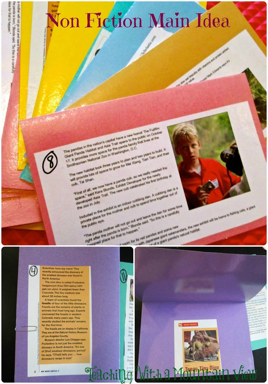 Practice Non Fiction Main Idea With Tfk Scholastic News And Other Freebie Articles Cut Off