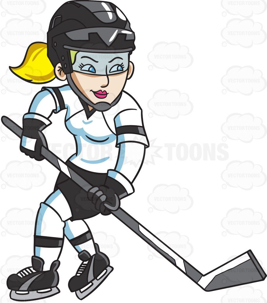 A Female Hockey Player Swirls Into The Ice Rink Hockey Players Hockey Hockey Girls