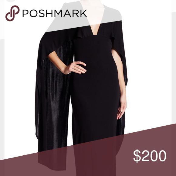 ABS by Allen Schwartz black cape gown | Black cape, Abs allen ...