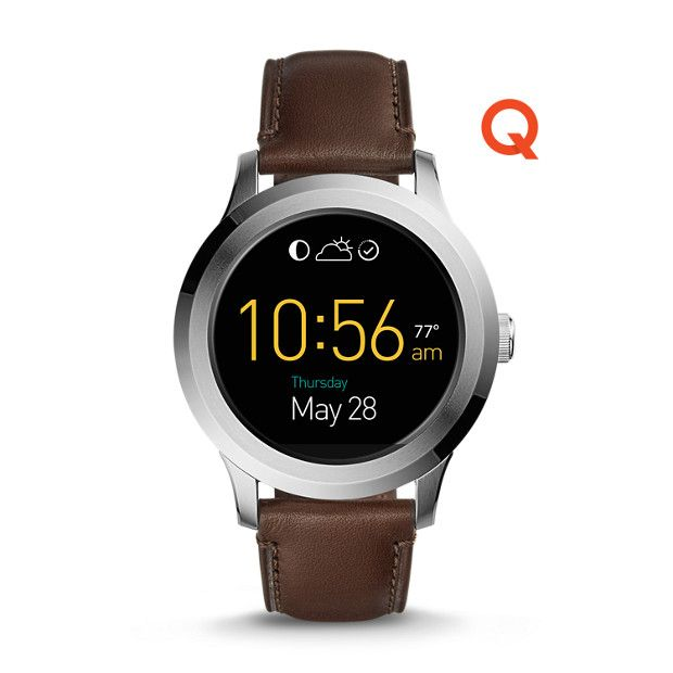 Fossil Q Founder 2 0 Touchscreen Dark Brown Leather Smartwatch Fossil Smart Watch Tech Watches Stylish Watches