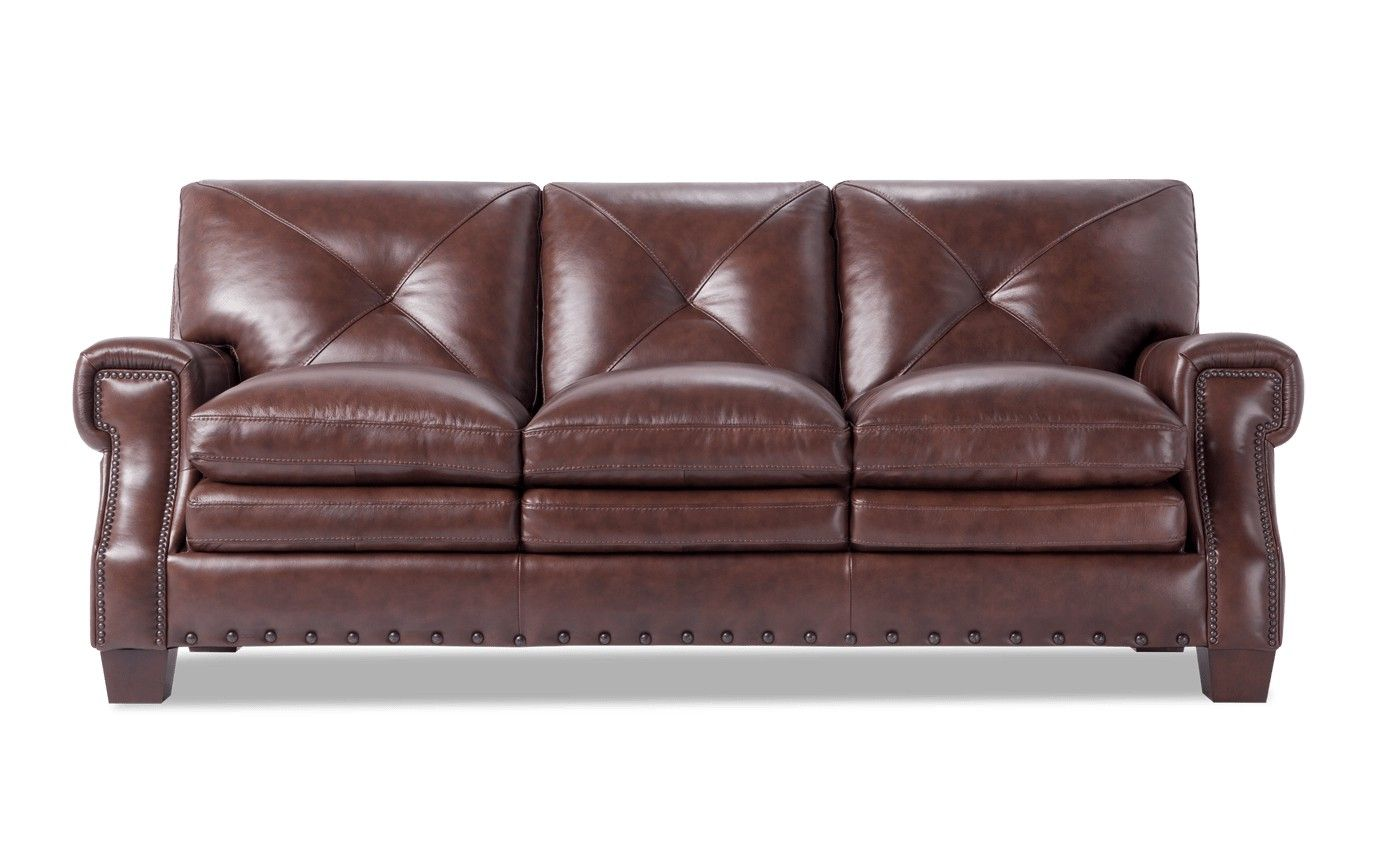 Kennedy Leather Sofa Bobs Com Leather Sofa Brown Sofa Sofa