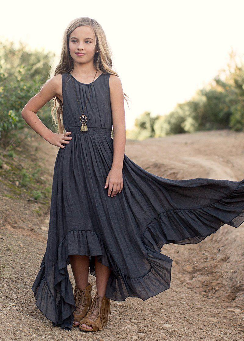 New Gemma Dress In Charcoal Boho Dresses Long Trendy Dresses Summer Cute Dresses For Teens [ 1116 x 800 Pixel ]