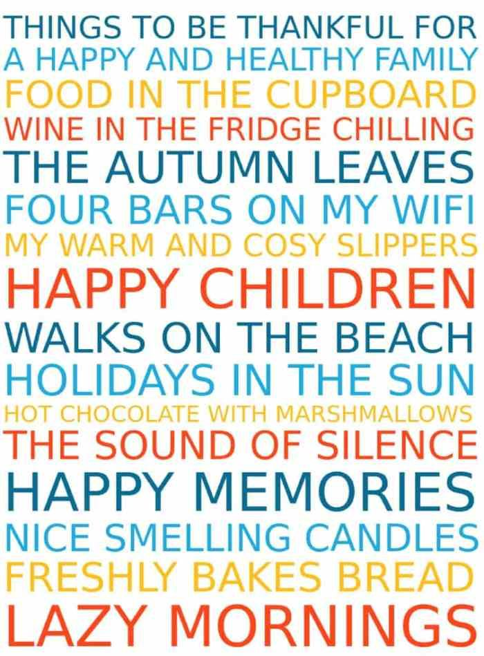 Free Poster Maker Reasons to be thankful Free printables and