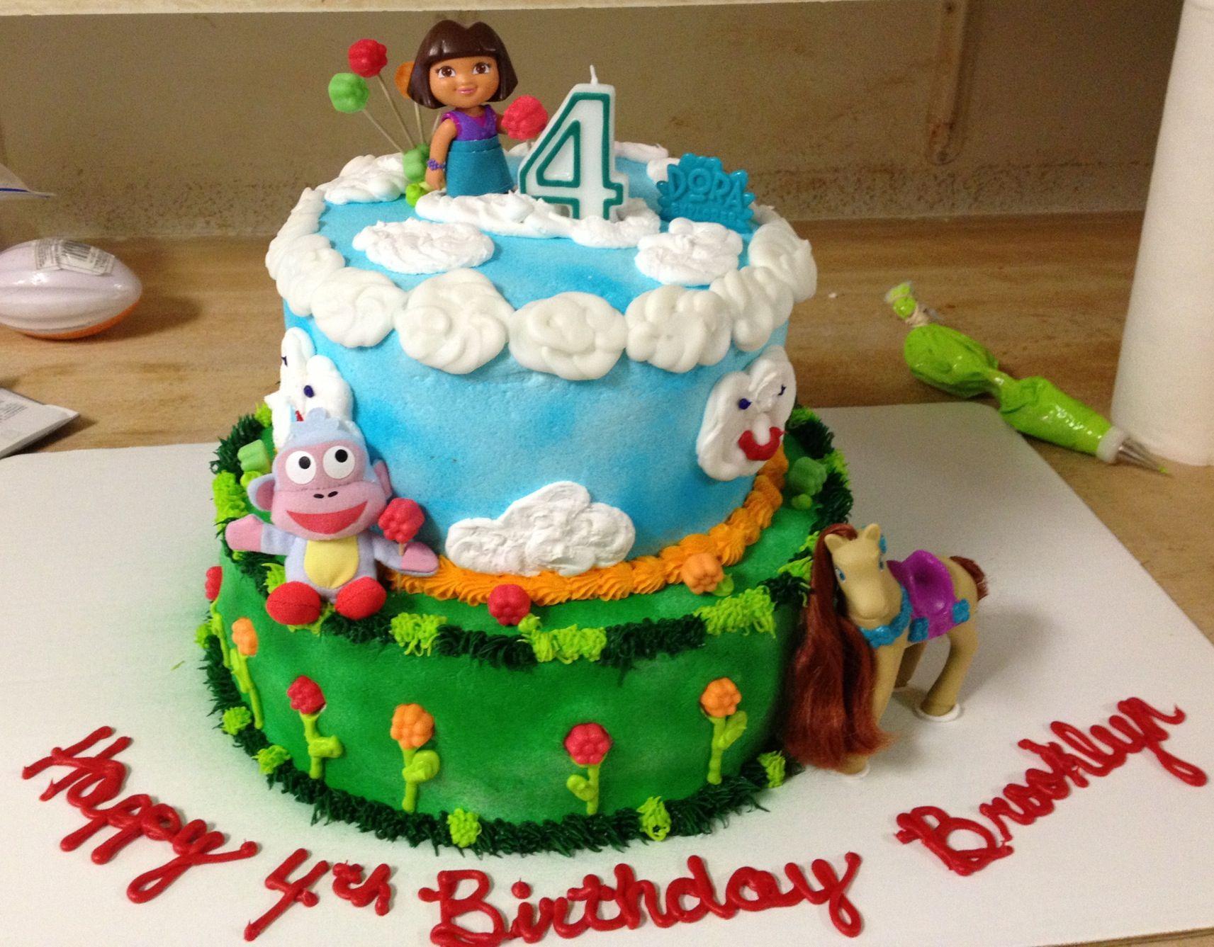 Dora Cake Recipe In English: Dora Birthday Cake