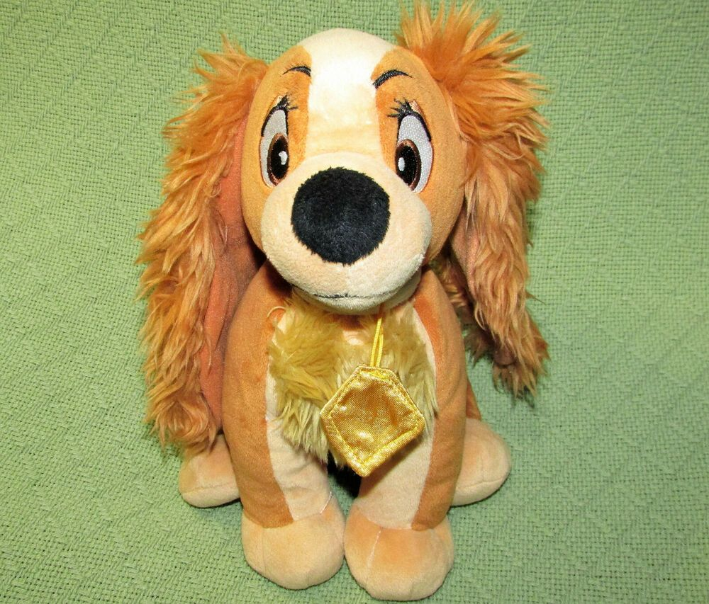 12 Disney Lady And The Tramp Dog Stuffed Animal Silver Stitch