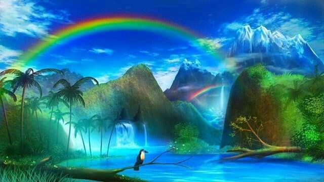 A rainbow for you honey xxoo