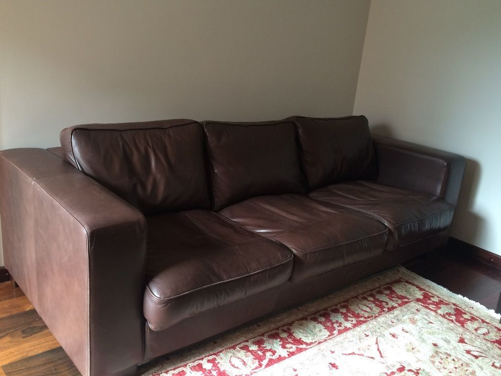 Big Brown Leather Sofa 236x 100cm Small Brown Leather Sofa 144x100 Cm Kensington London Gumtree Brown Leather Sofa Leather Sofa Sofa