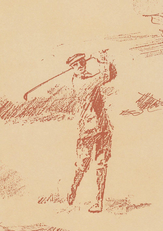 Golfing lewis wood sketches golf artist