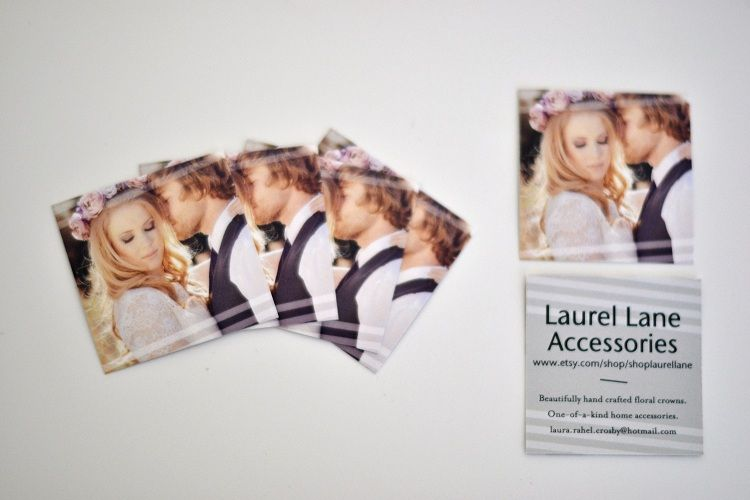 Laurel Lane: Starting Your Own Creative Business. Laurel shares her Tiny Prints business cards.