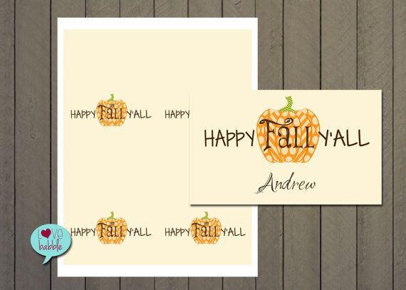 Thanksgiving Halloween Fall food label tents by lovebabble on Etsy