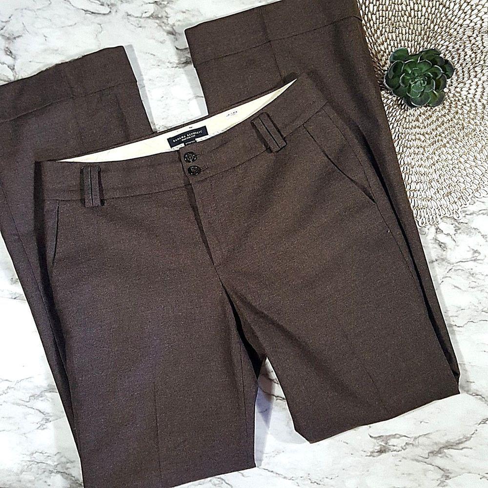 394add89fd Banana Republic Brown Martin Fit Wool Blend Stretch Trouser Pants Womens  Size 6 #BananaRepublic #Bootcut #Work