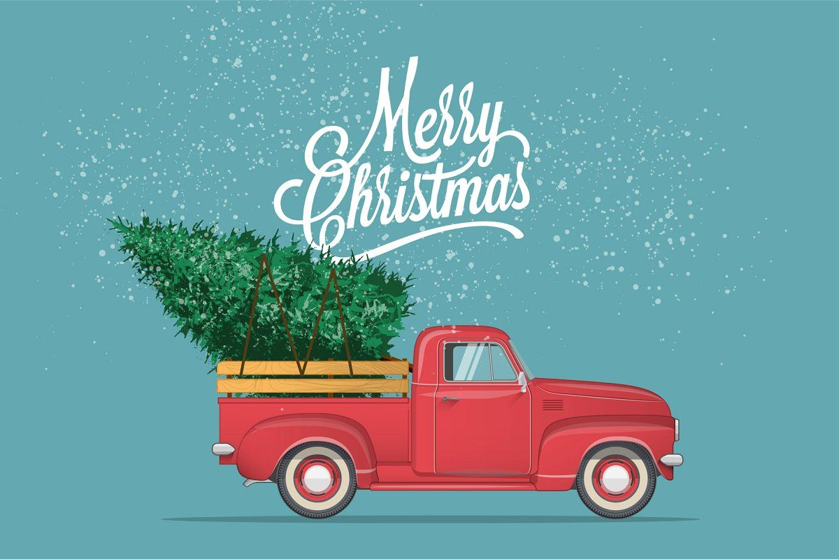 Merry Christmas Vector Illustration New Year Postcard Merry Christmas And Happy New Year Merry Christmas Poster